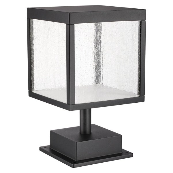 Reveal 1-light Black LED Outdoor Square Pier Mount, Seeded Glass. Opens flyout.