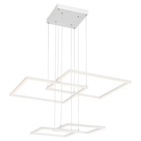 Squared 1-light White LED Pendant