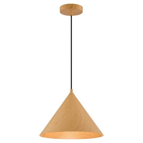 Timber 12-inch Wood Grain Pendant