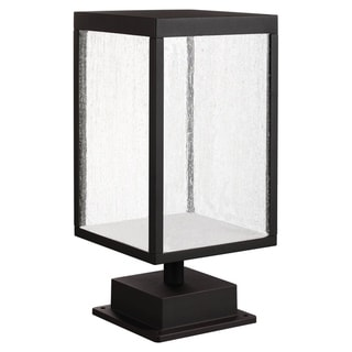 Link to Reveal 1-light Black LED Outdoor Rectangular Pier Mount, Seeded Glass Similar Items in Pier Mount Lights