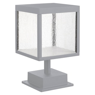 Link to Reveal 1-light Satin Gray LED Outdoor Square Pier Mount, Seeded Glass Similar Items in Pier Mount Lights