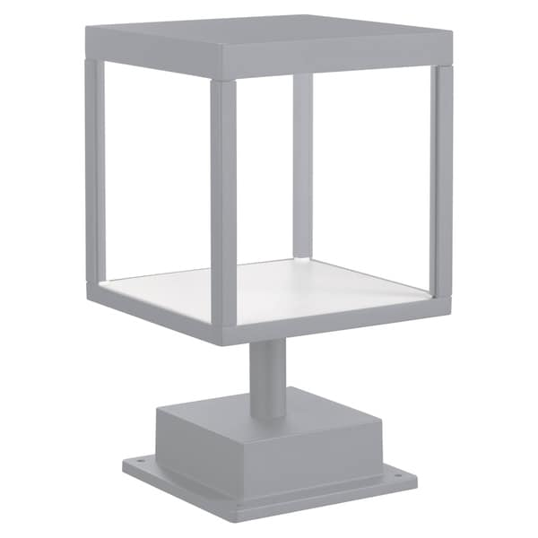 Reveal 1-light Satin Gray LED Outdoor Square Pier Mount, Clear Glass. Opens flyout.