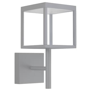 Link to Reveal 1-light Satin Gray LED Outdoor Square Wall Sconce, Clear Glass Similar Items in Pier Mount Lights