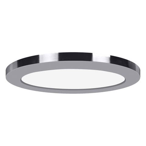 ModPLUS 9-inch Chrome 120V LED Round Flush Mount