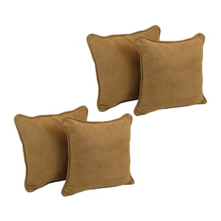 Blazing Needles 18-Inch Microsuede Throw Pillows (Set of 4)