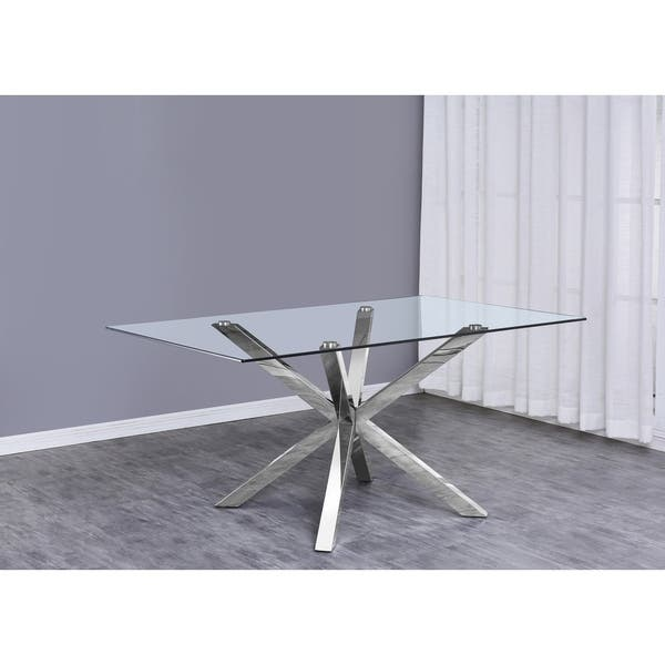 Best Quality Furniture Gl Table Top Dining W Stainless Steel Legs Chrome