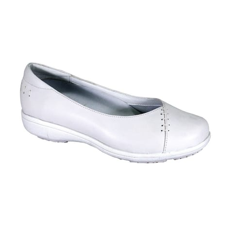 24 HOUR COMFORT Betsy Wide Width Casual Comfort Leather Loafers