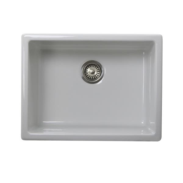 Shop Highpoint Collection 24 Inch Undermount Fireclay ...