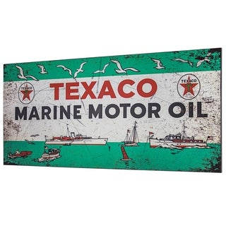 Texaco Marine Motor Oil Metal Sign Wall Decor