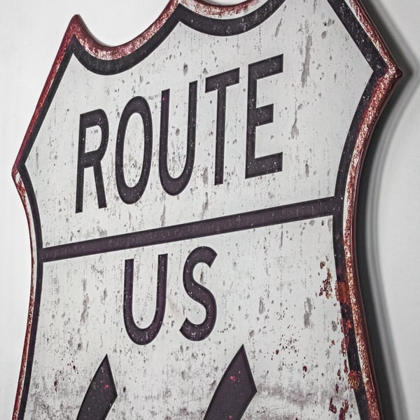 Route 66 Metal Sign Wall Decor Free Shipping Today