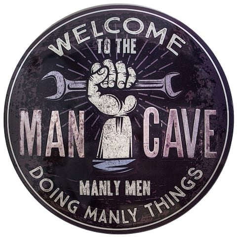 Man Cave Dome Shaped Metal Sign Wall Decor