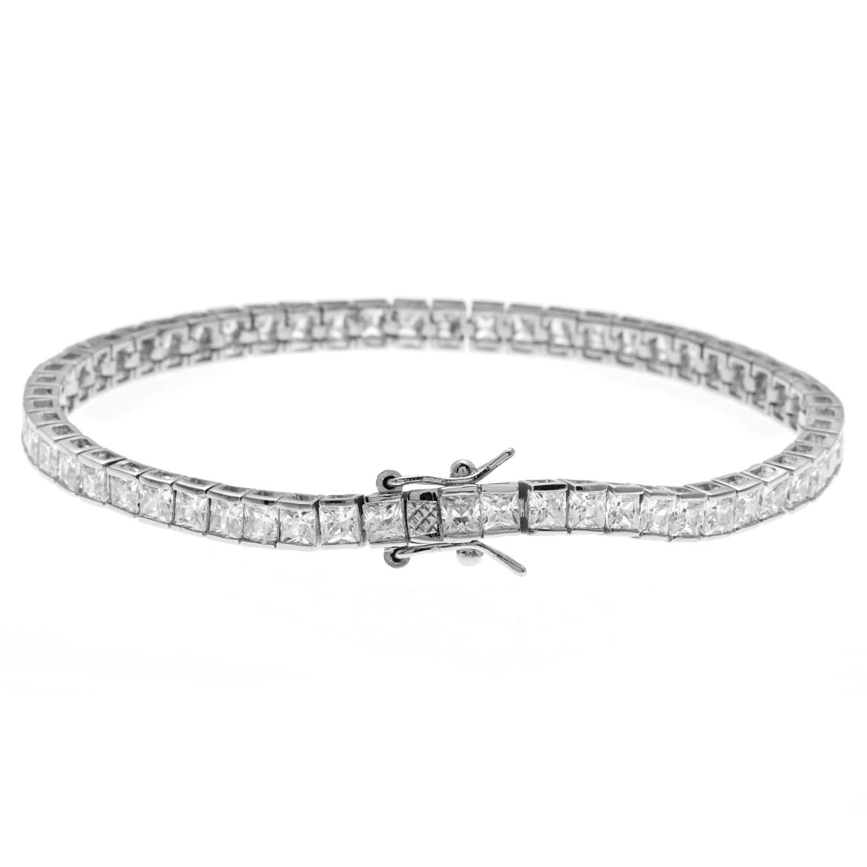 Princess Cut Cz Tennis Bracelet 5 94ct