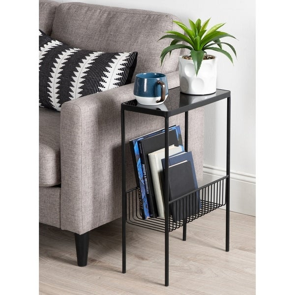 Kate and Laurel Trubey Modern Side Table - 15.75x8x24.6. Opens flyout.