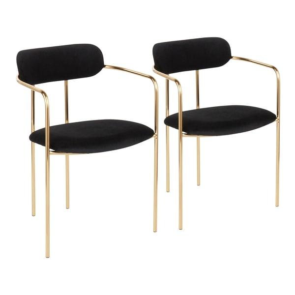 Demi Glam Velvet Chair (Set of 2) - N/A