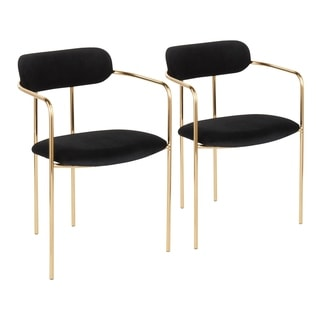Demi Glam Velvet Chair (Set of 2) - N/A