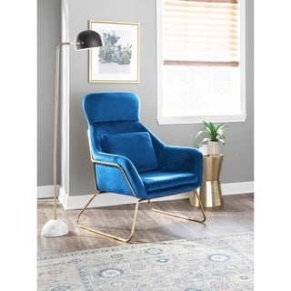 Link to Silver Orchid Durieux Velvet Lounge Chair - N/A Similar Items in Accent Chairs