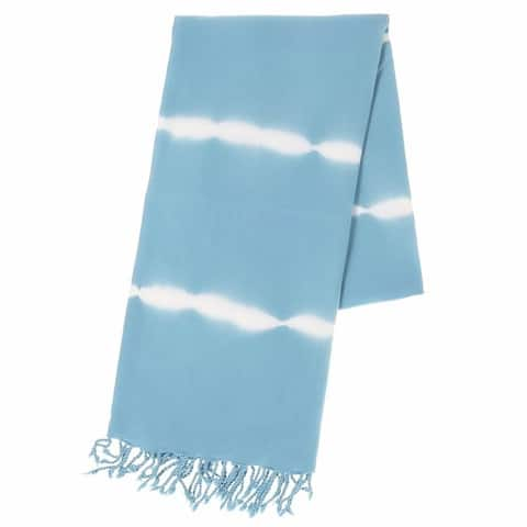 Handmade Sky Blue Tie Dye Oversized Towel (Turkey)