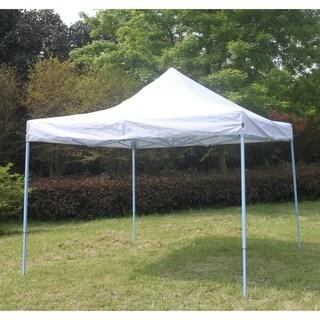 ALEKO Canopy Party Portable Waterproof 10X10Ft Gazebo White Tent Light Blue Frame