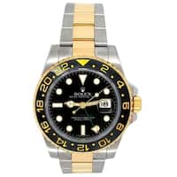 Pre-owned 40mm Rolex 18k Yellow Gold and Stainless Steel Oyster Perpetual GMT-Master II Watch - N/A - N/A