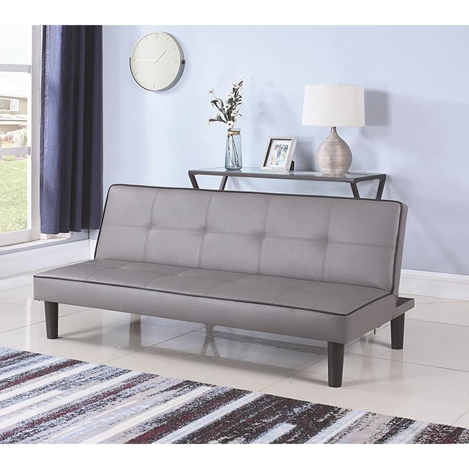 Fenton Grey Leather Upholstered