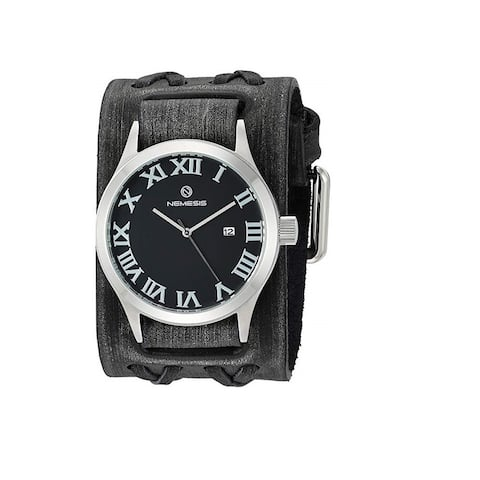 Nemesis 'Roman DX' Quartz Stainless Steel and Leather Casual Watch VDXB529K