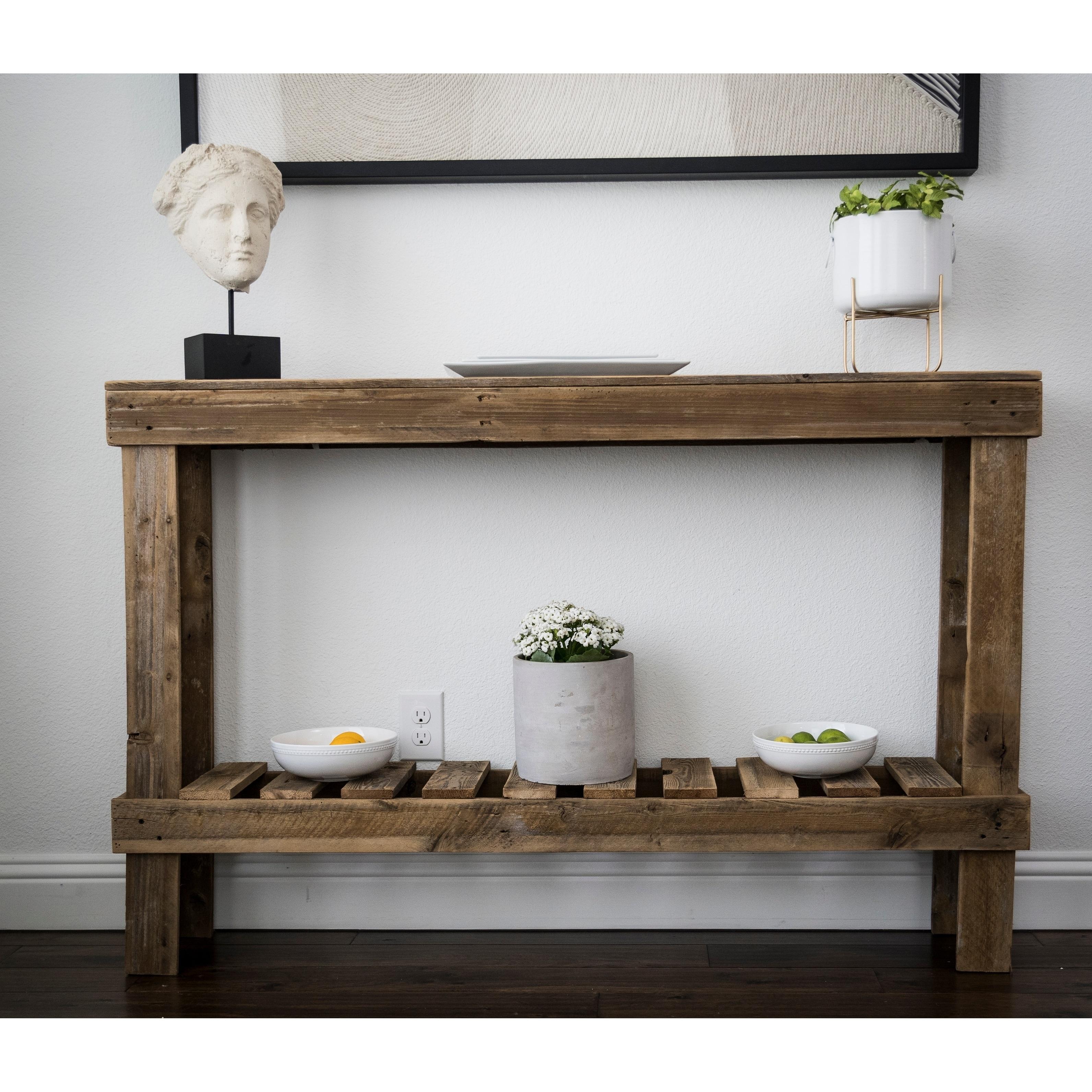 Large Rustic Barnwood Sofa Table