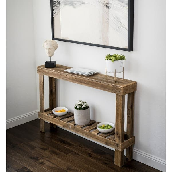 Shop Large Rustic Barnwood Sofa Table - Free Shipping Today ...