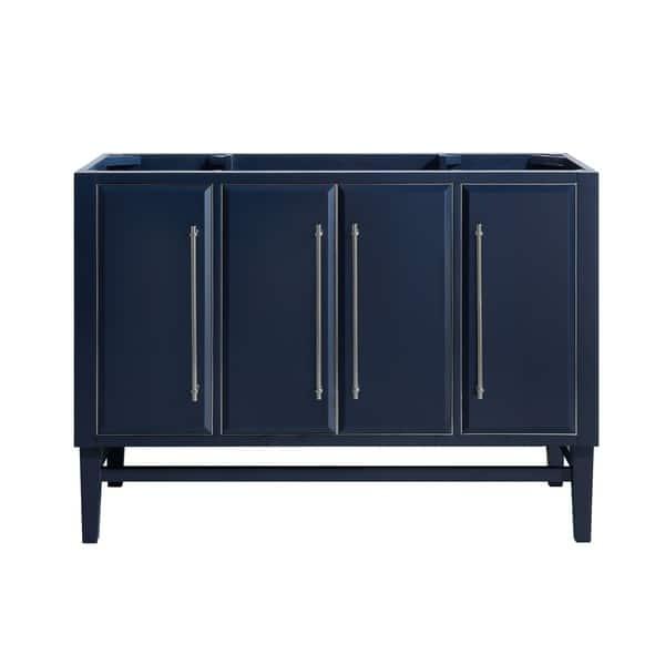 Avanity Mason 48 In Single Bathroom Vanity Cabinet Only In Navy Blue Overstock 28670932