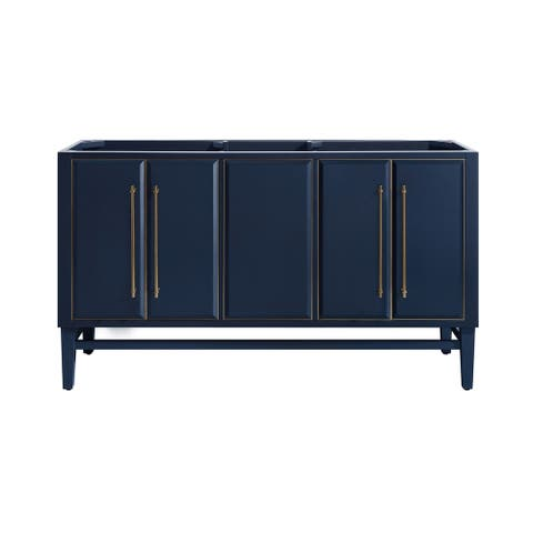 Avanity Mason 60 in. Double Sink Bathroom Vanity Cabinet Only in Navy Blue