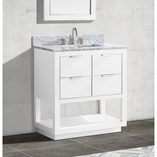 Avanity Allie 31 in. Single Sink Bathroom Vanity Set in White with Silver Trim