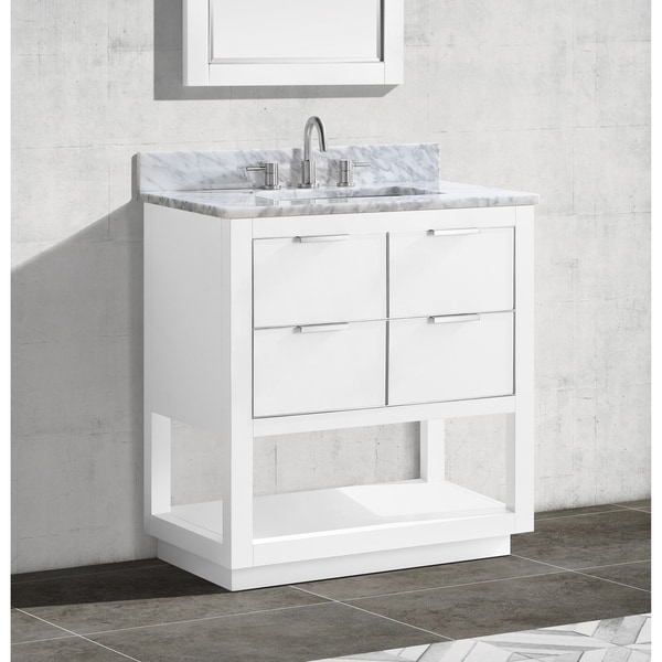 Avanity Allie 31 in. Single Sink Bathroom Vanity Set in White with Silver Trim