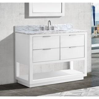 Avanity Allie 43 in. Single Sink Bathroom Vanity Set in White with Silver Trim