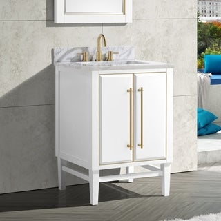 Avanity Mason 25 in. Single Sink Bathroom Vanity Set in White with Gold Trim