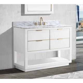 Avanity Allie 43 in. Single Sink Bathroom Vanity Set in White with Gold Trim