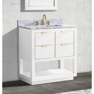 Avanity Allie 31 in. Single Sink Bathroom Vanity Set in White with Gold Trim