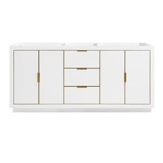 Austen 72 in. Double Bathroom Vanity Cabinet Only in White