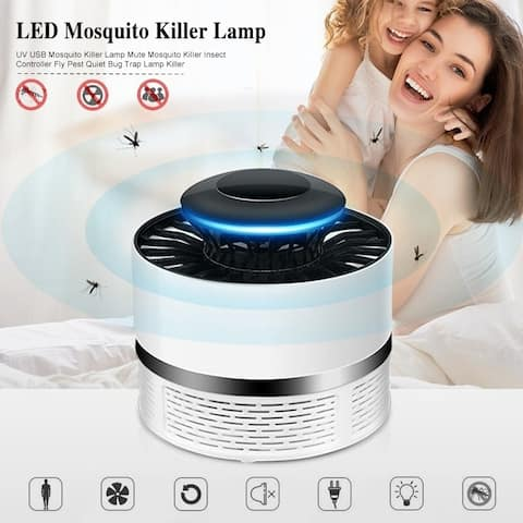 UV USB Mosquito Killer Lamp Mute Mosquito Killer Insect Controller Fly Pest Quiet Bug Trap Lamp Killer
