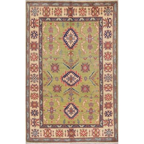"Traditional Kazak Oriental Hand Knotted Wool Pakistani Area Rug - 7'6"" x 4'10"""