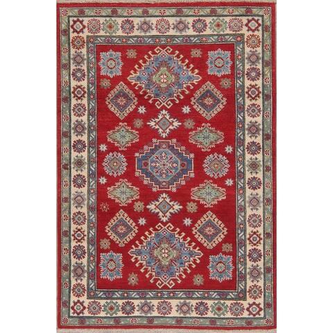 "Oriental Traditional Kazak Hand Knotted Wool Pakistani Area Rug - 6'0"" x 4'0"""