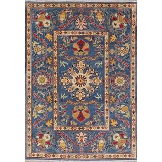 "Kazak Oriental Traditional Hand Knotted Wool Pakistani Area Rug - 7'2"" x 5'0"""