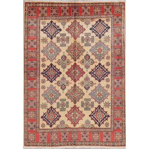 "Kazak Oriental Traditional Hand Knotted Wool Pakistani Area Rug - 6'10"" x 4'11"""