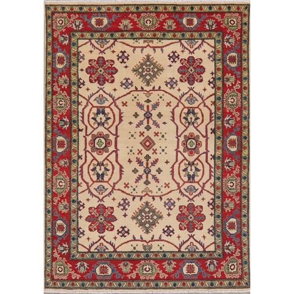"Pakistani Kazak Transitional Oriental Hand Knotted Wool Area Rug - 7'1"" x 5'0"""