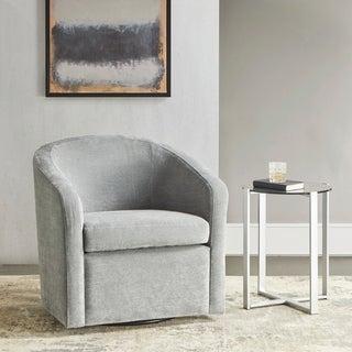 Martha Stewart Amber Light Blue Swivel Chair