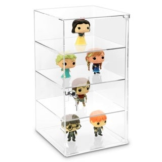 Ikee Design Acrylic Lockable Showcase Display Stand with 3 Removable Shelves