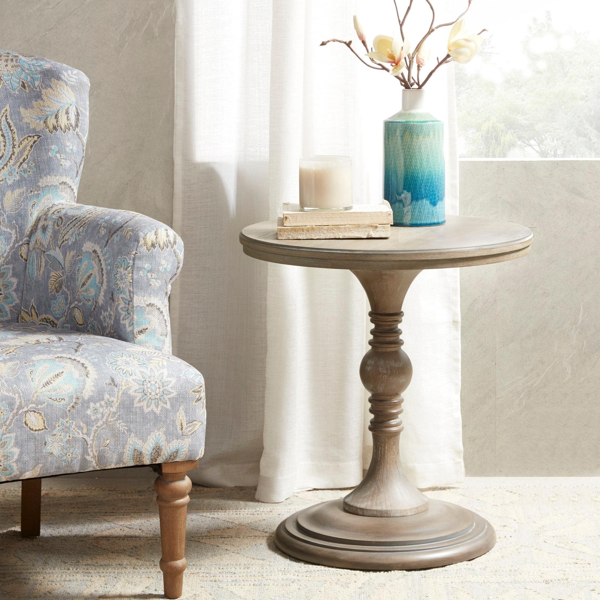 Shop Martha Stewart Olive Grey 24-inch Round Accent Table