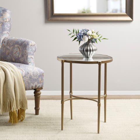 Martha Stewart Lia Antique Bronze 23-inch Oval Accent Table