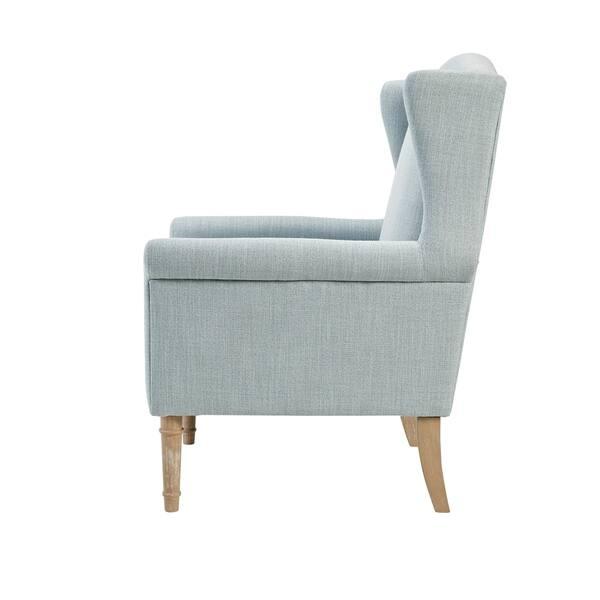 Terrific Shop Martha Stewart Jaxx Light Blue Wingback Accent Chair Gamerscity Chair Design For Home Gamerscityorg