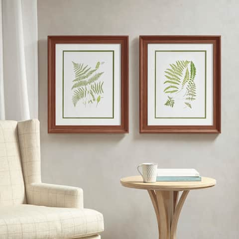 Martha Stewart Royal Ferns Double Mat Framed Graphic 2 Piece Set