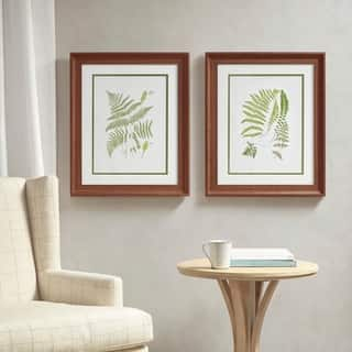 Martha Stewart Royal Ferns Double Mat Framed Graphic 2 Piece Set