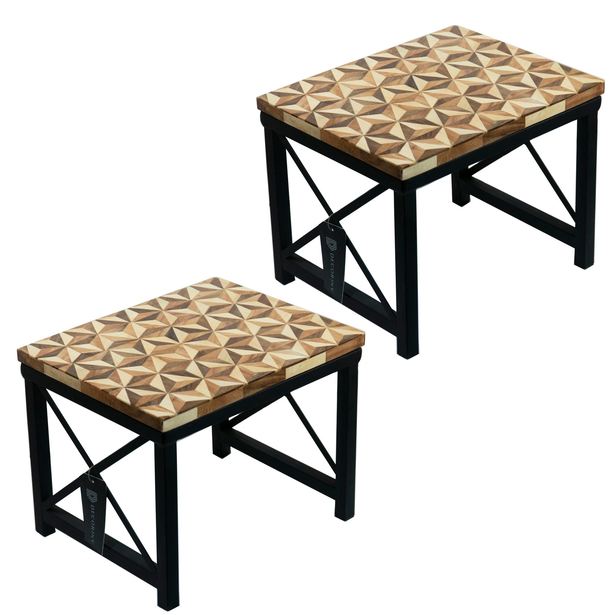 Incredible Porch Den Cody Premium Quality Handmade Step Stool Set Of 2 Alphanode Cool Chair Designs And Ideas Alphanodeonline